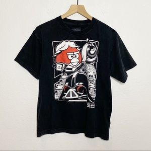 [Angry Birds x Star Wars] Black Graphic T-Shirt